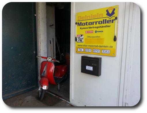 Eingang Roller Werkstatt